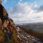 Climbing at Crookrise